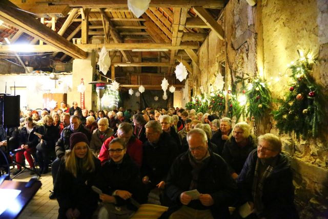 Scheunengottesdienst am 4. Advent am Forsthaus am Papenkamp